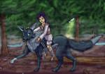 Akiio et le lounard by DisccatFR
