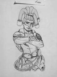 Lucio lineart (Overwatch) by CrazyEdzia