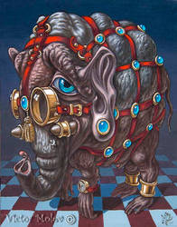 Magical Many-Eyed Elephant by VictorMolev