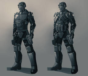 E.C.M.C. armor by ShadowolfZ