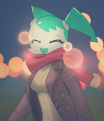 Jenny in winter clothes by ShadowolfZ