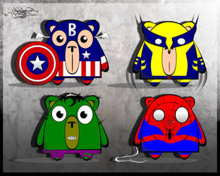 Marvel BEARoes by xHaStexo