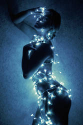 Blue light by Mishkina