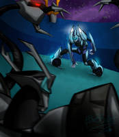 Blurr And Shockwave by BBelial