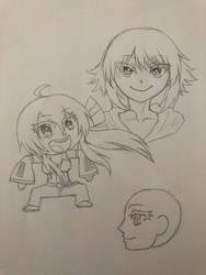 Chibi Haku + Gumi by ReesyTaters