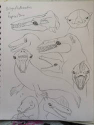 Beluga, Dinos, and Rodhocetus Amalgams by ReesyTaters