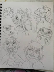 Cat Girl, Lizard Girl and Anthros! by ReesyTaters