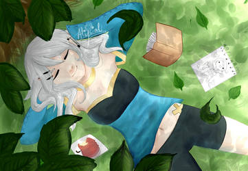 Adalin under the trees by Aliycial