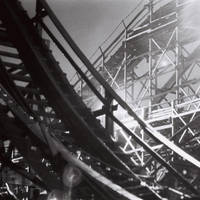 Rollercoaster at Night 4 by vkanne
