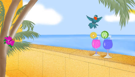 Paradise For a Lost Bird by papermario13689