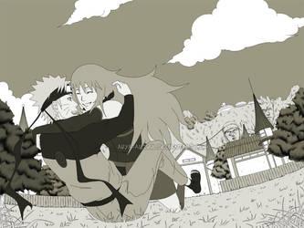 Naruto and Akiko by Arya-Aiedail