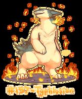 Pokemon #157 - Typhlosion by oddsocket