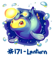 Pokemon #171 - Lanturn! by oddsocket