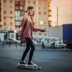Longboard Riding by ShakilovNeel