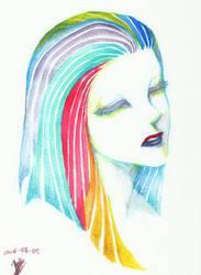 rainbow girl by jinguj