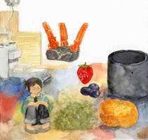 diary doodle - watercolor test by jinguj