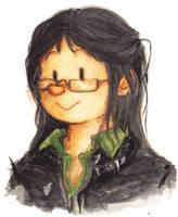 diary doodle - long hair by jinguj