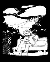 diary doodle - moon waiting by jinguj