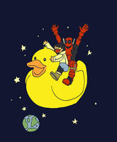 deadpool, duck and me by jinguj