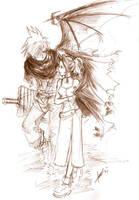 Kingdom Hearts +Cloud Aeris+ by jinguj