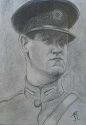 Portrait of Michael Collins by lorddragi