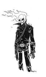 Ghost Rider sketch by darrenrawlings
