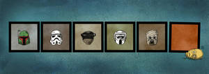 Star Wars Helmets by darrenrawlings