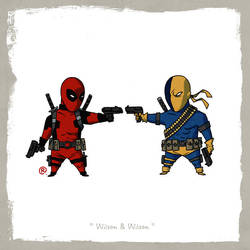 Little Friends - Deadpool and Deathstroke by darrenrawlings