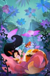 Mermaid in her Garden by AquaJ