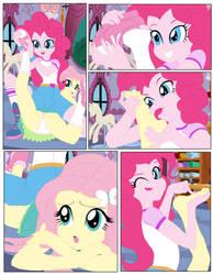 Pinkie pie and fluttershy a hidden story by DEMONDA-ART