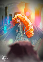 MERIDA vs bear by maikymAik