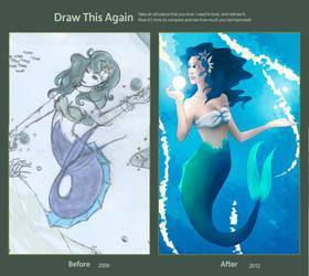 Draw this again: Mermaid of the Waves by YumeDeli