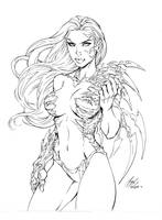 Witchblade commission 24 inks by Xenomrph