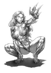Witchblade commis. 37 shaded by Xenomrph