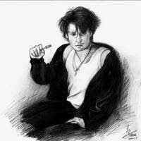 Young Johnny Depp Sketch by ColorfulGuitar