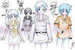 Itoshi, Hiki and Kaki by Fantashii