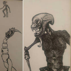 Ink Sketches #2 by Dakoshistar