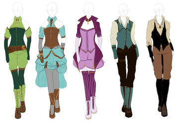 Outfit Design: Steampunk by Dinloss