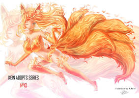 Adopt 13 -Fire Kitsune- SOLD OUT by S0mniaLuc1d0