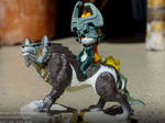 Wolf Link and Midna - My first Amiibo ever by AngelOfDarkness089