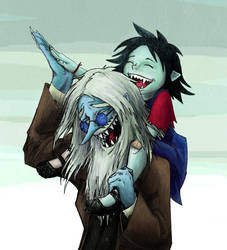 Simon and Marcy Laughing ~ coloured by WaterLily-Gems