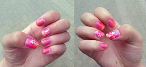 Summer nails by WaterLily-Gems