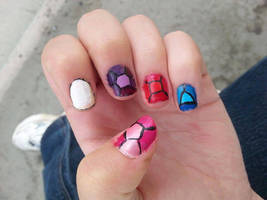 Steven Universe Nail art by WaterLily-Gems