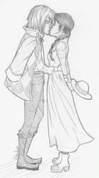Howl and Sophie by icyreiatsu