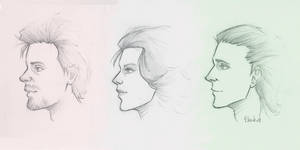 Tony, Natasha, and Loki by icyreiatsu