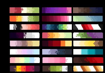 F2U Color Palettes by DojaTea