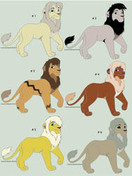 TLK OPEN ADOPTABLES 3 by Julia-adopts