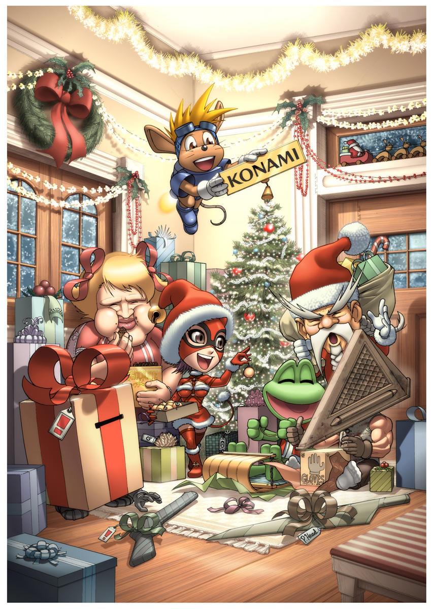 Konami Christmas Card by UdonCrew