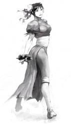 Chun-Li_Sketch by UdonCrew