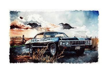 ''Baby'' Chevrolet impala '67 - Supernatural by Carella-Art